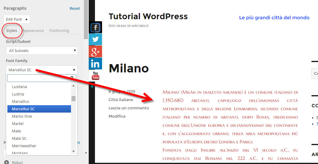 easy google fonts alternativi wordpress