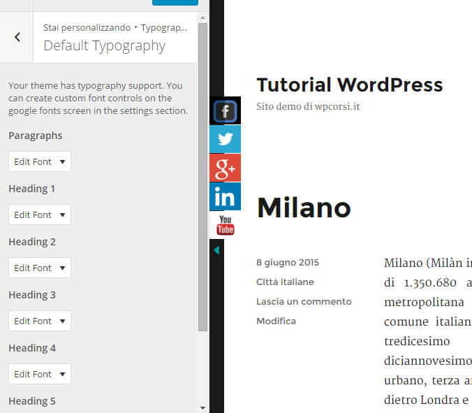 easy google fonts formati testo