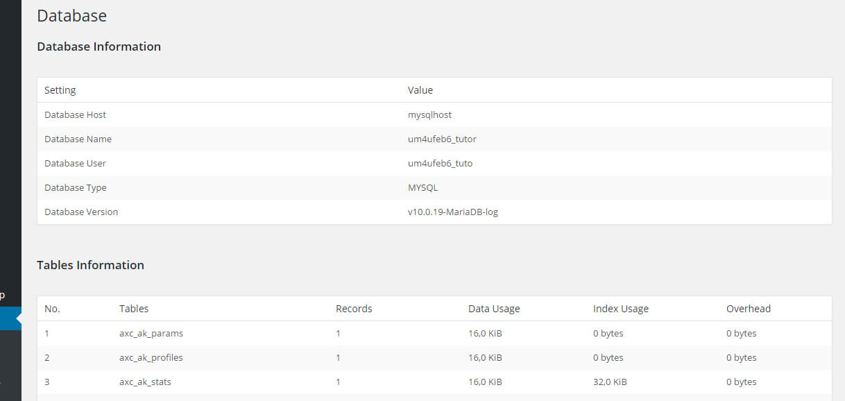 gestione database wordpress wp dbmanager