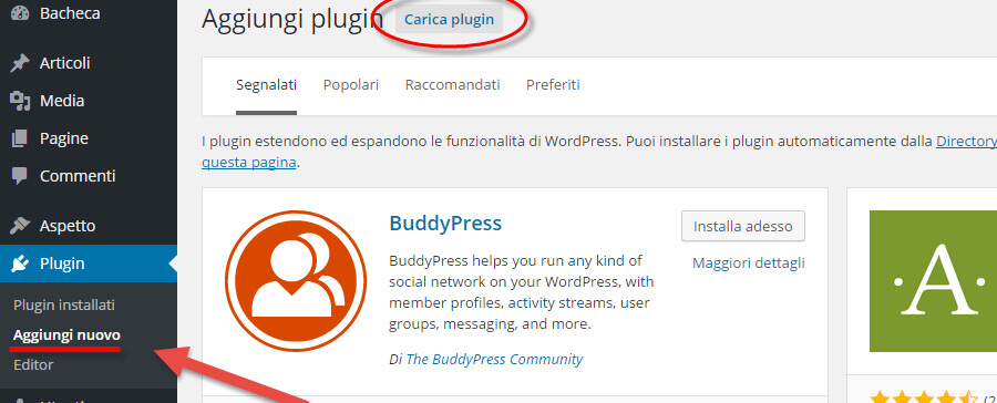 Come installare plugin WordPress
