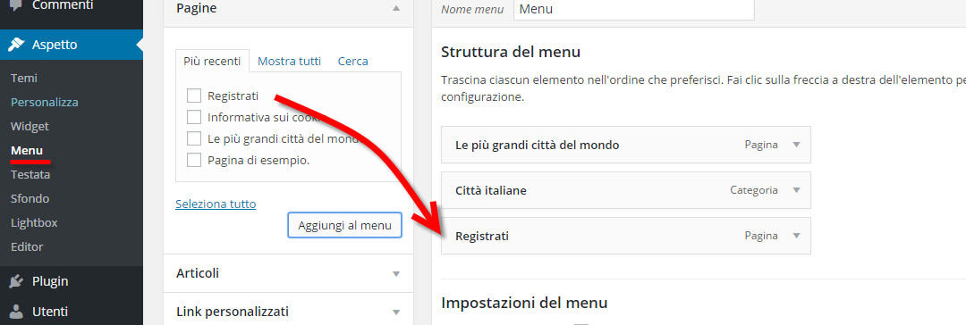 profile builder pagina registrazione