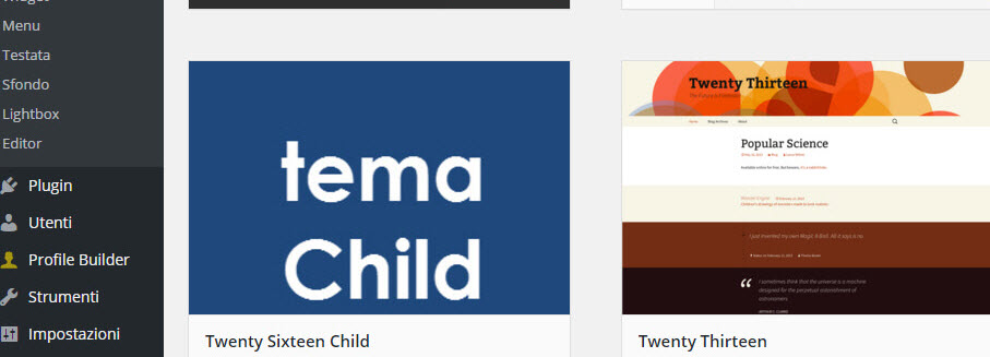 Come creare i Child Theme in WordPress